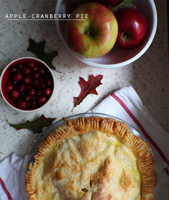 Apple-cranberry pie.