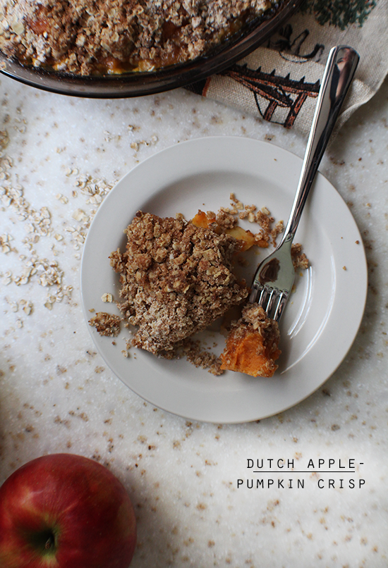 Dutch apple-pumpkin crisp.