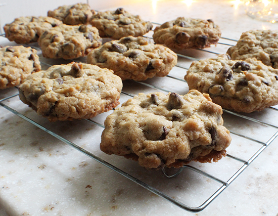 Chocolate chip oatmeal cookies!