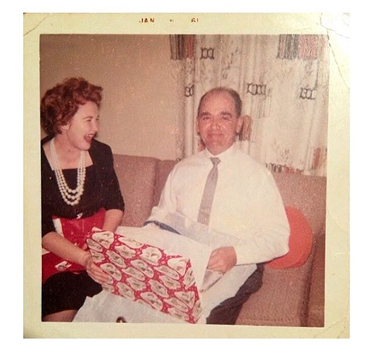 Nana & gramps, Christmas.