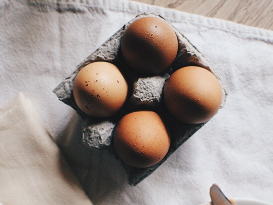 Brown eggs. Eggs symbolize new life. New life, new year.