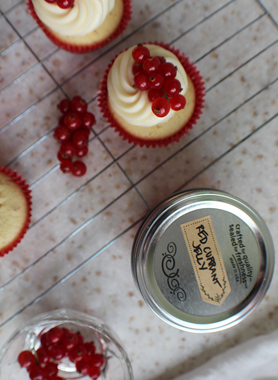 Red currant cupcakes.