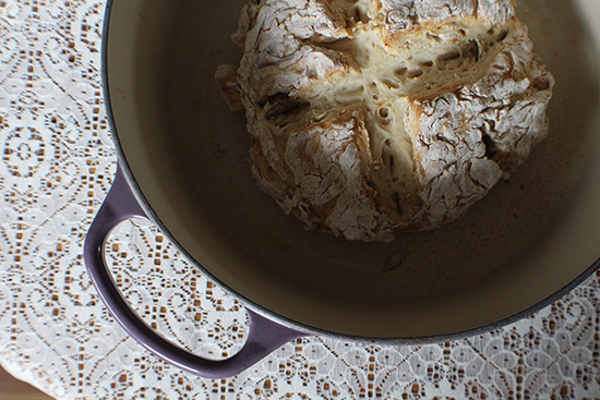 Dutch oven irish soda bread.