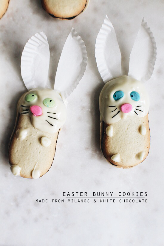 Easter bunny Milano cookies!