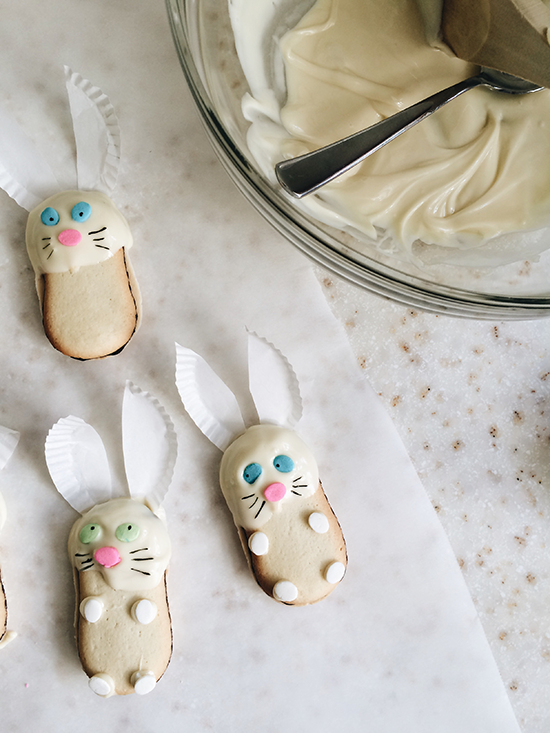 Easter bunny cookies!